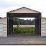 top notch metal products barn stle carport with doors image