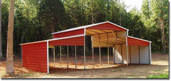 Barn Style Carports Top Notch Metals Martin Georgia